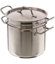 Update International SDB-16 - 16 Qt - Induction Ready Stainless Steel Double Boiler w/Cover