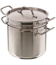 Update International SDB-20 - 20 Qt - Induction Ready Stainless Steel Double Boiler w/Cover