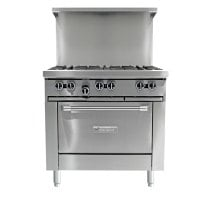 Garland G36-6C - 6 Burner Gas Range - (1) Convection Ovens
