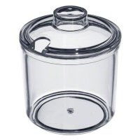 Update International CJ-7AC - 7 Oz - Plastic Condiment Jars w/Covers
