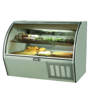 "Leader NRCD60SC - 60"" Curved Glass Deli Display Case - Counter Height"