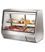 "True TDBD-72-4 - 72"" Deli Case - Double Duty Self Contained"