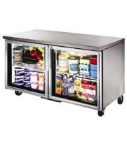 "True TUC-60G - 60.5"" Undercounter Refrigerator - 2 Glass Door 4 Shelves"