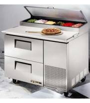 "True TPP-44D-2 - 44"" Pizza Prep Table 2 Drawers"