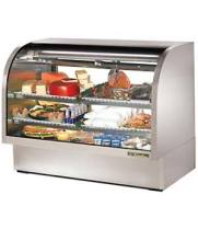"True TCGG-60-S - 60"" Deli Case - Curved Glass, Single Service"