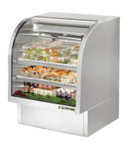 "True TCGG-36-S - 36"" Deli Case - Curved Glass, Single Service"