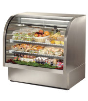 "True TCGG-48-S - 48"" Deli Case - Curved Glass, Single Service"
