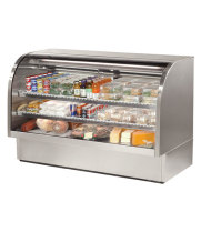 "True TCGG-72-S - 72"" Deli Case - Curved Glass, Single Service"