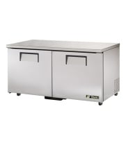 "True TUC-60-ADA - 60.5"" Undercounter Refrigerator - 2 Solid Door 4 Shelves ADA Compliant"