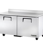 "True TWT-60F-ADA - 60.5"" Worktop Freezer - 2 Door ADA Compliant"