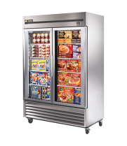 "True TS-49FG - 54"" Reach-In Freezer - 2 Full Glass Swing Door"