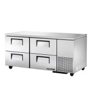 "True TUC-67D-4 67.25"" 4 Drawers Undercounter Refrigerator"