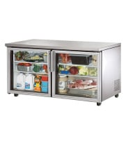 "True TUC-60G-ADA - 60.5"" Undercounter Refrigerator - 2 Glass Door 4 Shelves ADA Compliant"