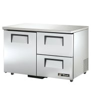 "True TUC-48D-2-ADA - 48.5"" Undercounter Refrigerator - 1 Door, 2 Drawers ADA Compliant"