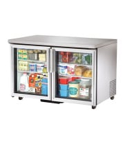 "True TUC-48G-LP - 48.5"" Low Profile Undercounter Refrigerator - 2 Glass Door 4 Shelves"