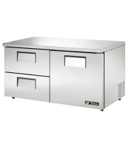 "True TUC-60D-2-LP - 60.5"" Low Profile Undercounter Refrigerator - 1 Door, 2 Drawers"
