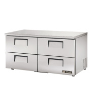 "True TUC-60D-4-LP 60.5"" 4 Drawers Low Profile Undercounter Refrigerator"