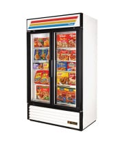 "True GDM-43F - 47"" Glass Door Reach In Freezer"