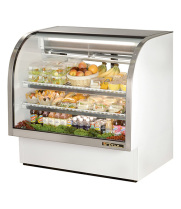 "True TCGG-48 - 48"" Curved Glass Deli Case - 2 Doors, 2 Shelves"