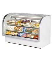 "True TCGG-72 - 72"" Curved Glass Deli Case - 2 Doors, 2 Shelves"