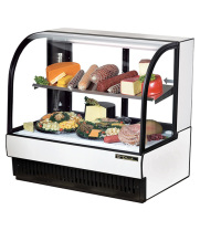 "True TCGR-50-CD - 51"" Curved Glass Cold Deli Case - 2 Doors, 1 Shelf"