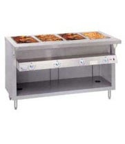 "Duke G-6-DLSS - Heavy Duty Hot Food Table - Deluxe Gas, 6 Wells, 88"" W"