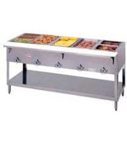 "Duke E-5-DLSS - ThurmaHeavy Duty Hot Food Table - Deluxe Electric, 5 Wells, 74"" W"