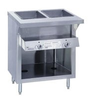 "Duke E-2-DLSS - ThurmaHeavy Duty Hot Food Table - Deluxe Electric, 2 Wells, 32"" W"