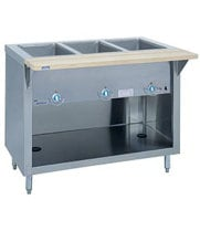 "Duke G-2-CBSS - Heavy Duty Hot Food Table - Standard Gas, 2 Wells, 32"" W"