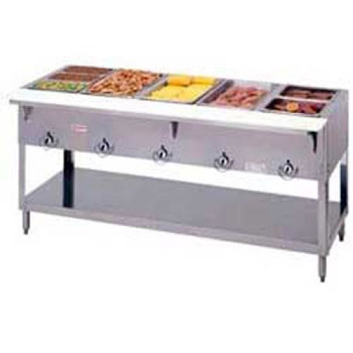 Duke Aerohot Electric Hot Food Table - Stationary 5 Wells, 72-3/8