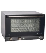 Cadco OV-013 - Half Size - Stainless Steel Convection Oven w/ Manual Control- 3 Shelves