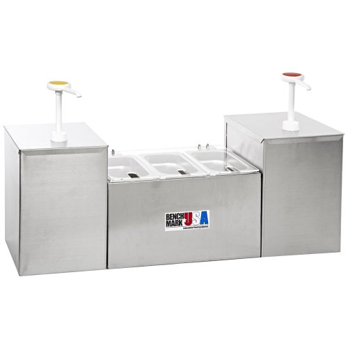Benchmark USA 52001 - Condiment Station with Pump & Pans