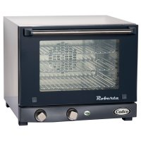 Cadco OV-003 - Quarter Size - Stainless Steel Convection Oven w/ Manual Control- 3 Shelves