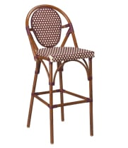 G & A Seating 908M - Aluminum Bamboo Bar Stool (12 per Case)