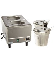 Benchmark USA 51072P - Dual Well Warmer w/ Lids and Ladles