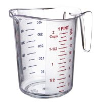 Update International MEA-50PC - 2 Cup - Plastic Measuring Cup