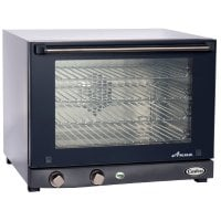 Cadco OV-023 - Half Size - Stainless Steel Convection Oven w/ Manual Control - 4 Shelves