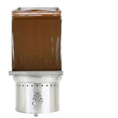 Buffet Enhancements - 1BACF35WALL - Stainless Steel Medium Chocolate Fountain Wall