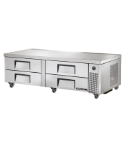 "True TRCB-72 - 72"" 4 Drawer Refrigerated Chef Base"