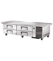 "True TRCB-79-86 - 86"" 4 Drawer Refrigerated Chef Base"