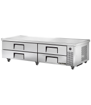 "True TRCB-82-86 - 84"" 4 Drawer Refrigerated Chef Base"
