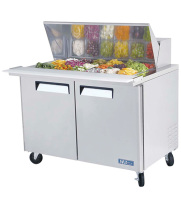Turbo Air MST-48-18 - Sandwich Prep Table - Standard Top 2 Door 48.25""