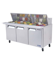 Turbo Air MST-72-30 - Basic Sandwich Prep Table - Standard Top 3 Door 72.75""