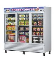 Turbo Air TGF-72F -  Reach-In Freezer - 3 Full Glass Swing Door, 12 Shelves, 82""