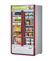 Turbo Air TGF-35SD -  Reach-In Freezer - 2 Full Glass Swing Door, 4 Shelves, 39""