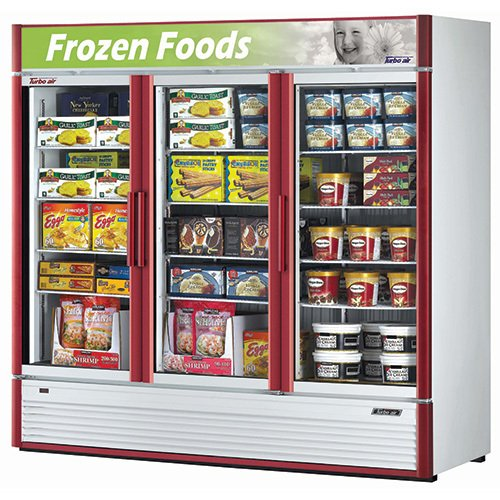 Fabulous Turbo Air Tgf 72Sd Reach In Freezer 3 Full Glass Swing Door 12 Shelves 78 Interior Design Ideas Gentotryabchikinfo