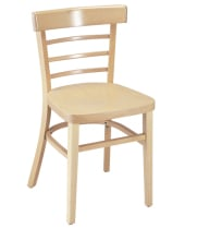 G & A Seating 1105VS - Economy Wood Ladderback Chair (12 per Case)