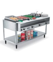 "Vollrath 38005 - Electric Hot Food Table - ServeWell 5 Wells, 76"" W"