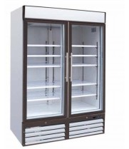 "Universal GDRF54SC - 54"" Glass Door Reach In Freezer"
