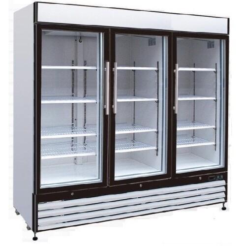 Universal Gdrf81sc 81 3 Glass Door Reach In Merchandising Freezer
